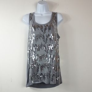 N.W.D Grey Embellished Tank Top
